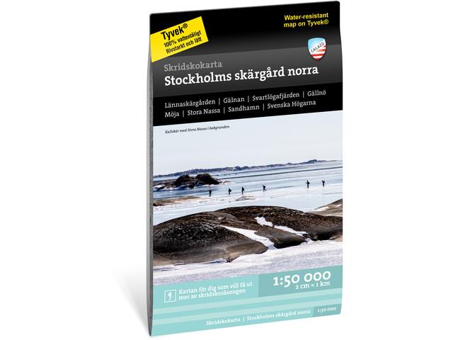 Calazo Skridskokarta Stockholms skärgård norra 1:50.000